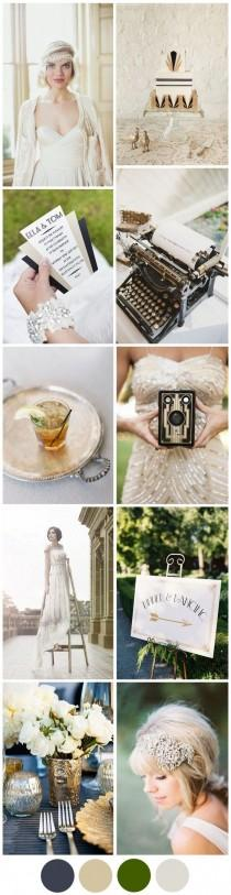 wedding photo - Channeling The Great Gatsby: Your Art Deco Wedding Theme