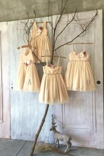 wedding photo - 2016 Mix Match Champagne Bridesmaid dress, Mismatch A line Baby Flower Girl dress, Short Chiffon Rosette dress(JK008/JK009/JK007/JK010)-RENZ