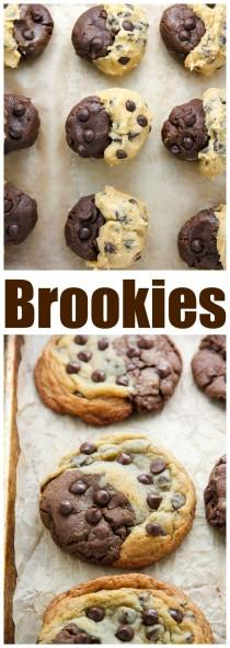 wedding photo - Chocolate Chip Brownie Swirl Cookies