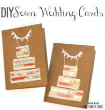 wedding photo - DIY Sewn Wedding Cards