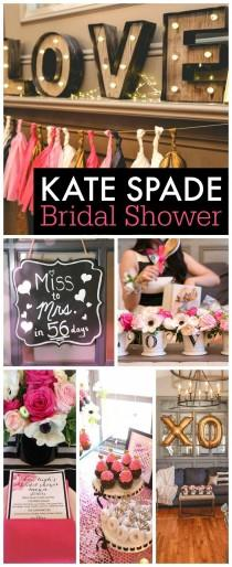 "wedding photo - Black, White, Pink & Gold / Bridal/Wedding Shower ""Kasi's Kate Spade Inspired Bridal Shower"""
