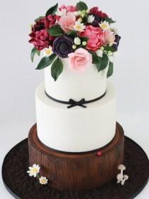 wedding photo - Sharon Wee Creations Wedding Cake
