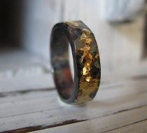wedding photo - 5MM Man Wedding Band Black Gold Ring Man Wedding Ring Commitment Ring Rustic Man Wedding Band Unique Man Wedding Band Viking Wedding Ring