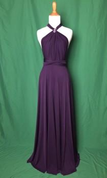 wedding photo - Sweet heart Wrap Convertible Infinity Dress Evening Dresses Straight Hem Floor Length   Dark Purple Bridesmaid Dress-C18#