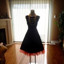wedding photo - Audrey hepburn dress, black bridesmaid dress, 1950s dress, little black dress