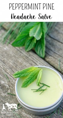 wedding photo - Peppermint Pine Headache Salve