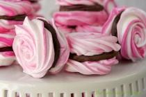 wedding photo - French Meringues With Strawberry Ganache Filling