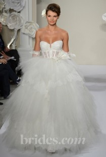 wedding photo - Pnina Tornai - 2013 - Style 4188 Strapless Lace and Tulle Ball Gown Wedding Dress - Stunning Cheap Wedding Dresses