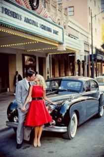 wedding photo - 1950s Glamour Engagement Session