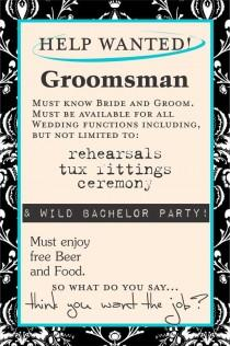 Wine wedding weddbook for Groomsman liquor bottle labels
