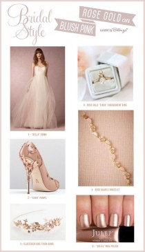 wedding photo - How To Match A Blush Pink Wedding Dress With Rose Gold Accessories!