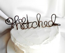 wedding photo - Rustic Cake Topper, Country Wedding Decor, 5 inch