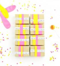 wedding photo - Paper Stripes Favor Boxes DIY (Oh Happy Day!)