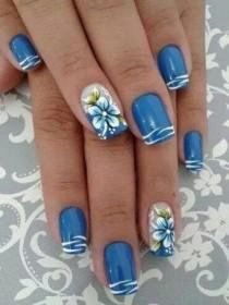 wedding photo - 13 Blue Color Nail Designs You Must Try This Year