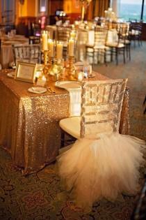 wedding photo - Gold Sequin Tablecloth