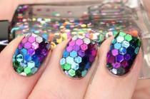 wedding photo - True Rainbow Fish Nails