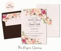 wedding photo - Bridal Shower, Wedding Invitation, Printable Invitation, Weddings, Bridal Invite, Wedding Invite, Invitations, Kate Spade, Stripes Flowers
