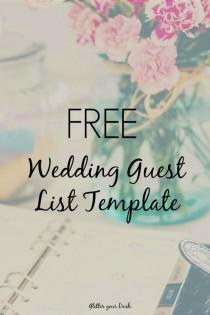 wedding photo - Simplify Wedding Planning With This FREE Guest List Tracker