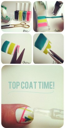 wedding photo - 12 Amazing DIY Nail Art Designs Using Scotch Tape