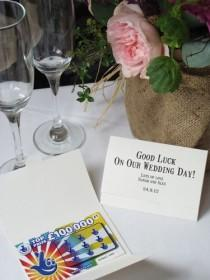 wedding photo - Bespoke Wedding Favour Scratch Card Holders