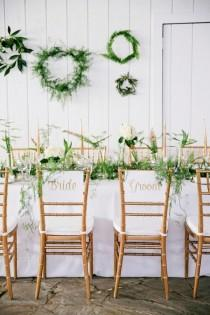 wedding photo - Green And White Organic Wedding Inspiration