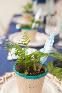 wedding photo - Check Out This Awesome DIY Indigo Boho Wedding Tablescape!