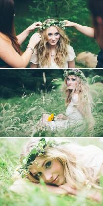 wedding photo - Fresh Flower Crown And Hair Ideas For Your Wedding Day And Bridal Style.