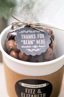 wedding photo - Wedding Favor Friday: Chocolate-Covered Coffee Beans