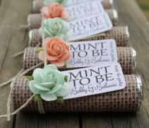 wedding photo - Mint Wedding Favors