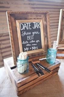wedding photo - 31 Impossibly Romantic Wedding Ideas, Date Jar