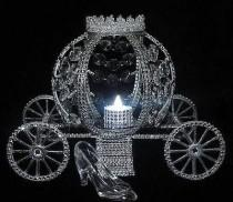 wedding photo - Cinderella Wedding Lite Carriage Coach Centerpiece