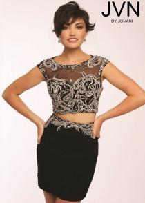 53471775ac0 JVN by Jovani JVN20376 Fitted Cocktail Dress - 2016 Spring Trends Dresses