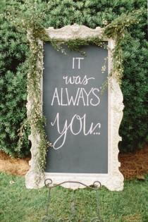 wedding photo - 20 Cute And Clever Wedding Signs That Add A Little Somethin' The Party