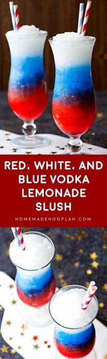 wedding photo - Red, White, And Blue Vodka Lemonade Slush