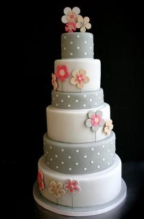 wedding photo - Pink And Gray Cakes