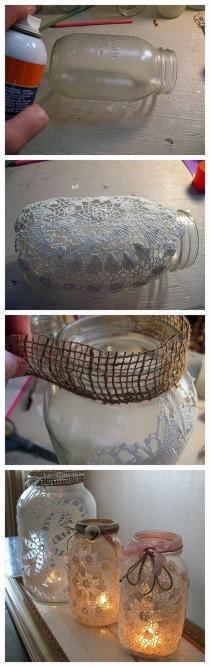 wedding photo - Awesome Festive Mason Jar Crafts