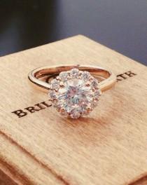 wedding photo - 12 Impossibly Beautiful Rose Gold Wedding Engagement Rings