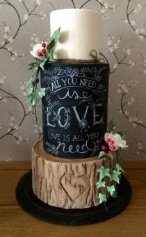 wedding photo - Rustic Wedding Cake
