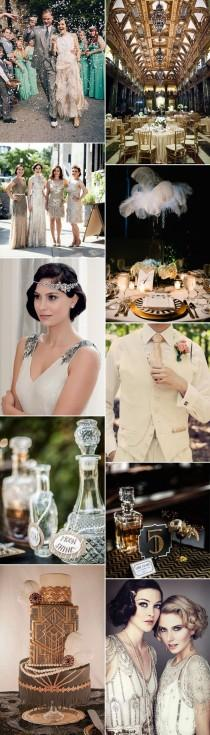 wedding photo - Gatsby Glamour: 1920s Wedding Ideas