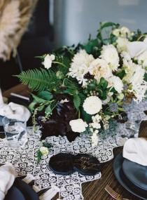 wedding photo - Black & White Rehearsal Dinner