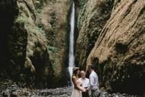 wedding photo - Intimate Barefoot Elopement In The Columbia River Gorge