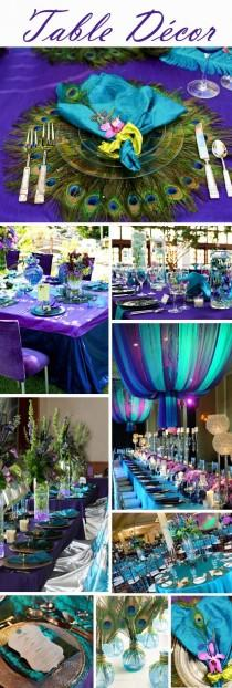 wedding photo - Your Wedding Colors – Peacock