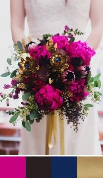wedding photo - 5 Fuschia Pink Wedding Palettes For Your Wedding Day