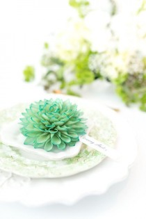 wedding photo - Place Card Holder, Wooden Flower Place Cards, Rustic Wedding, Wedding Escort Cards