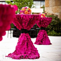 wedding photo - How Chic Is This? Fuchsia Textured Linens