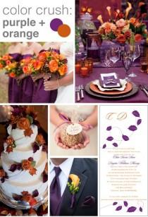 wedding photo - Color Crush: Purple And Orange