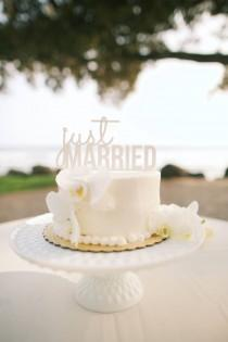 wedding photo - Just Married Cake Topper