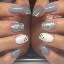 wedding photo - Grey And Silver  By MargaritasNailz From Nail Art Gallery