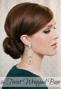 wedding photo - The Freckled Fox : Holiday Hair Week: The Twist Wrapped Bun