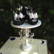 wedding photo - Women's Wedge Platform Wedding Shoes With White Satin Bow